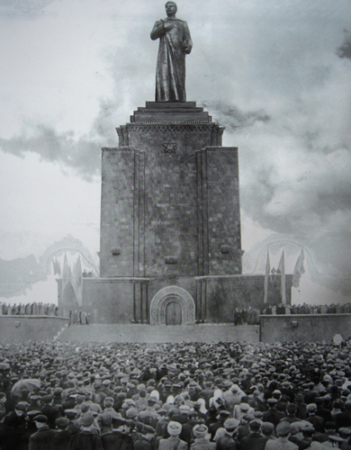 stalin monument in the victory park- yerevan_ archive